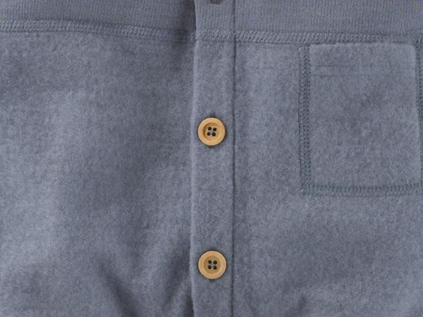 Light wool fleece overall made from pure organic merino wool