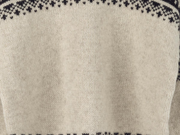 Limited by Nature Jacquard-Pullover aus Mongolen-Merino mit Alpaka