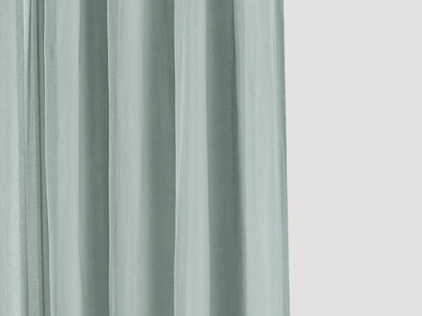 Marc curtain with curtain tape made of pure organic cotton