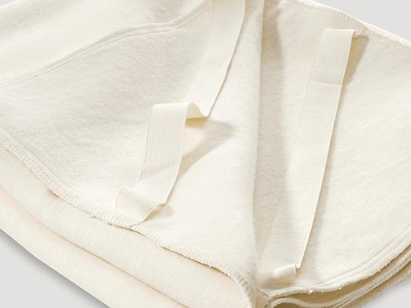 Moltonauflage aus reiner Bio-Baumwolle