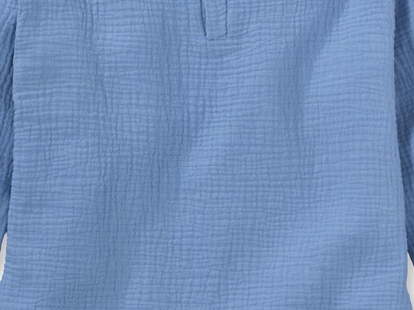 Musselin Schlupfhemd aus reiner Bio-Baumwolle