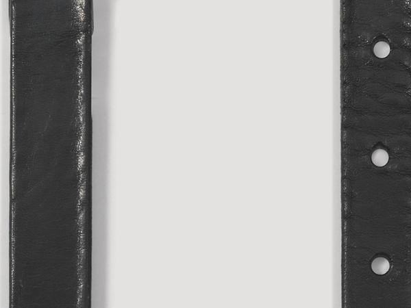 Narrow leather belt