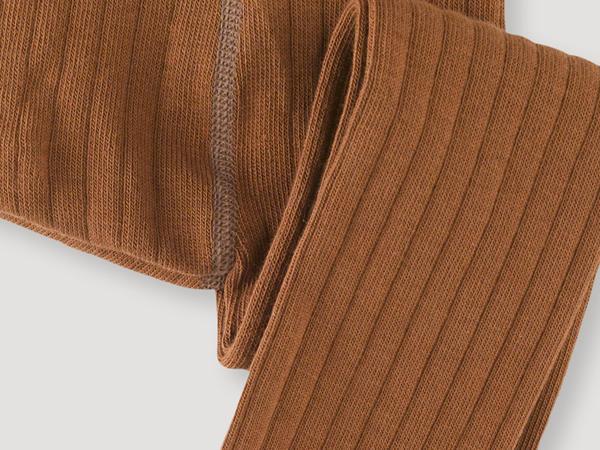 Organic cotton rib tights