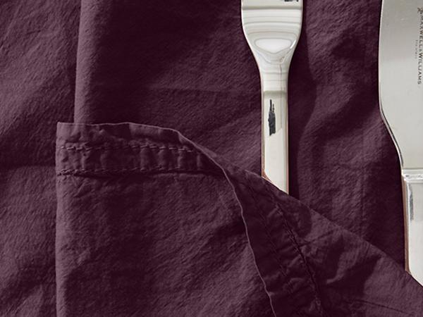 Perkal-Servietten aus reiner Bio-Baumwolle im 2er Set