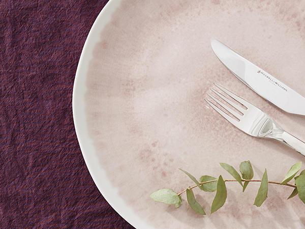 Perkal-Tischset aus reiner Bio-Baumwolle im 2er Set