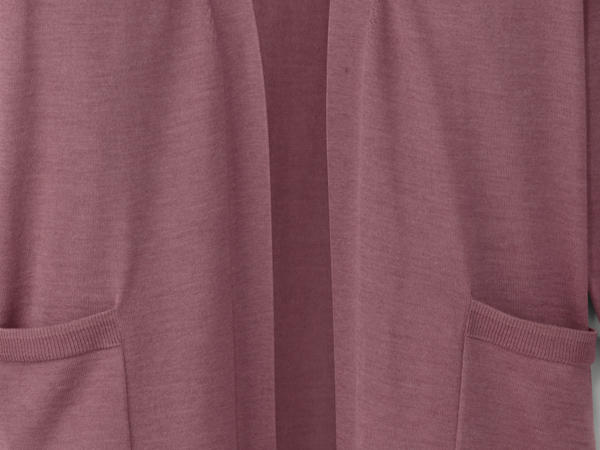 Plant-dyed cardigan made from pure merino wool