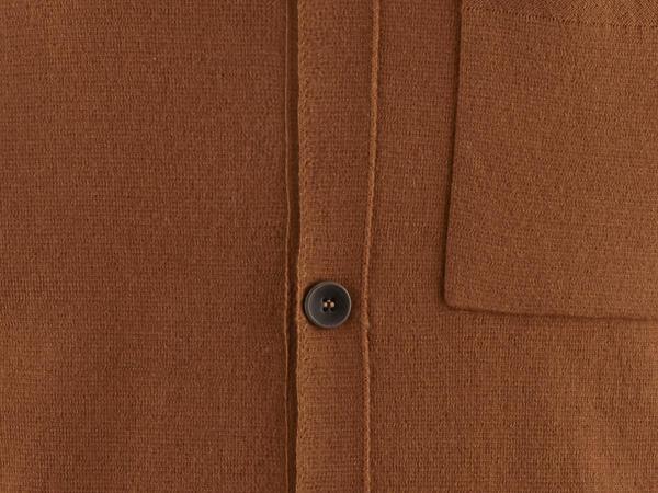Polo-Strickjacke aus Bio-Baumwolle und Bio-Schurwolle