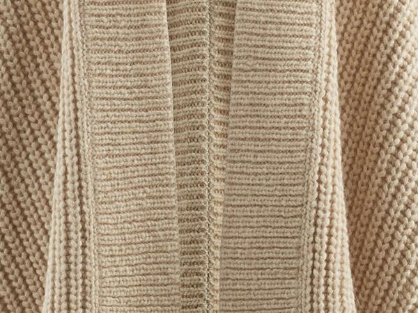 Poncho aus Alpaka mit Bio-Baumwolle
