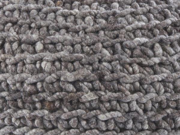 Pouf made of pure new wool