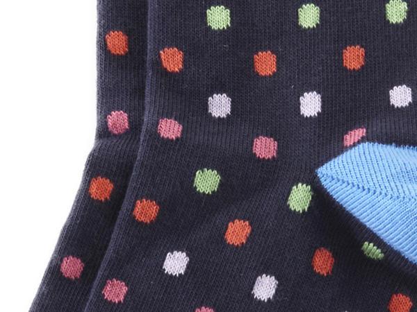 Pünktchen-Socke aus Bio-Baumwolle