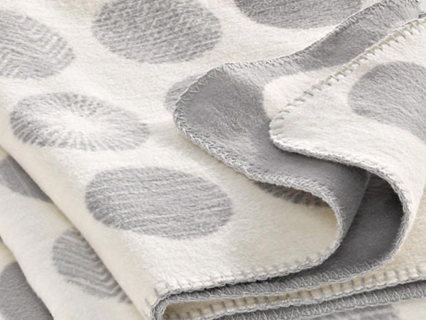 Punto blanket made of pure organic cotton