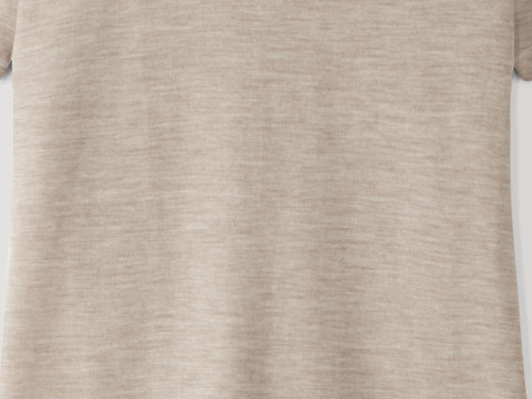 PureMIX half-sleeved shirt made of organic merino wool with silk
