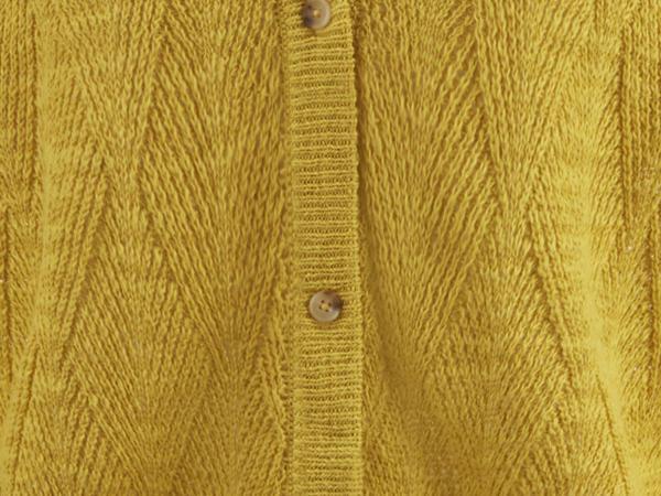 Rauten-Strickjacke aus Leinen mit Bio-Baumwolle
