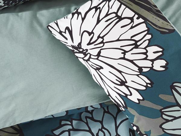 Renforcé-Wendebettwäsche Fiore aus reiner Bio-Baumwolle