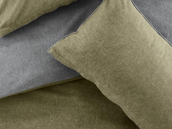 Reversible beaver bed linen set made from pure organic cotton