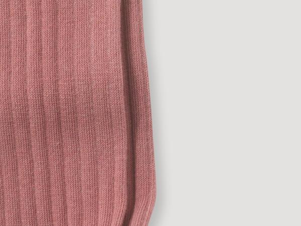 Rib knee socks made of organic merino wool with organic cotton