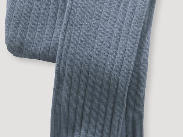 Ribbed tights made of organic merino wool with organic cotton
