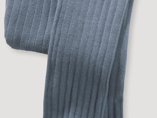 Ripp-Strumpfhose aus Bio-Merinowolle mit Bio-Baumwolle