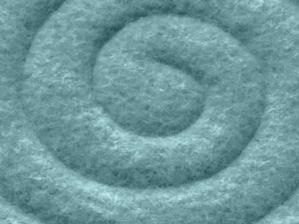 Round chair cushions made of pure new wool