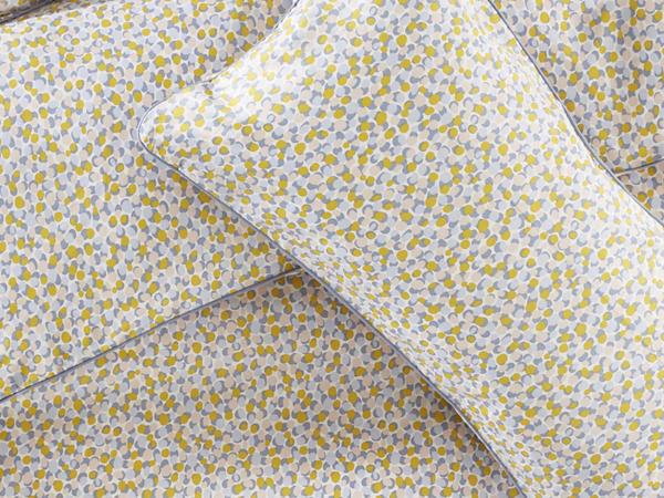 Satin-Bettwäsche Punti aus reiner Bio-Baumwolle