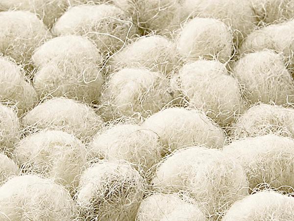 Schlingenteppich Rhönschaf aus reiner Schurwolle