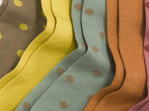Set of 5 socks made of organic cotton