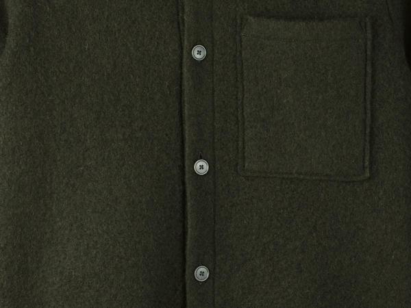 Shirt-Jacket aus Schurwolle mit Bio-Baumwolle