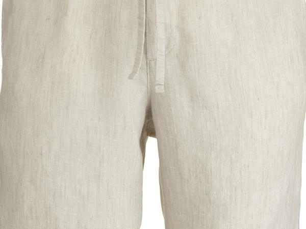 Shorts aus reinem Bio-Leinen