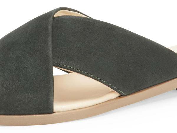 Sling mules made of chrome-free tanned leather