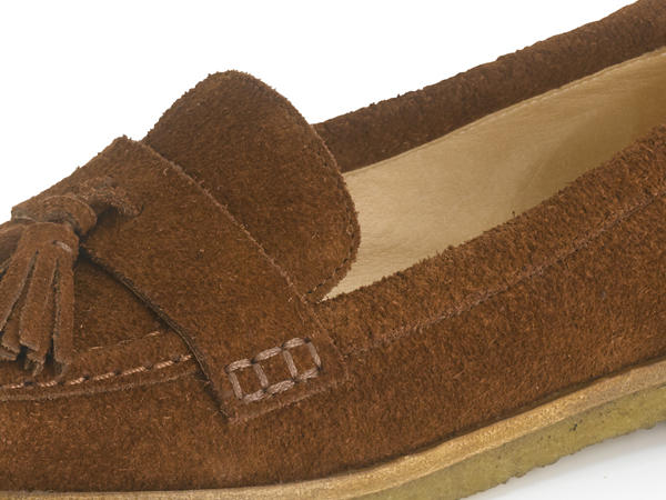 Slipper aus Veloursleder