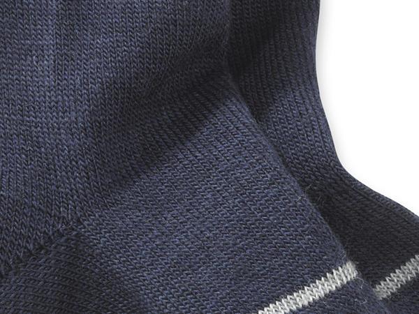 Socke aus Schurwolle mit Baumwolle
