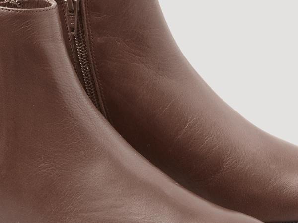 Stiefelette aus chromfrei gegerbtem Leder