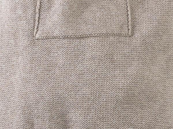 Strampler aus Bio-Baumwolle mit Yakwolle