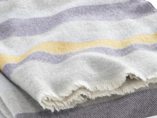 Streifendecke aus reiner Schurwolle