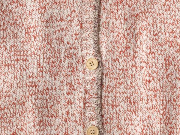 Strickjacke Mädchen aus Schurwolle mit Baumwolle