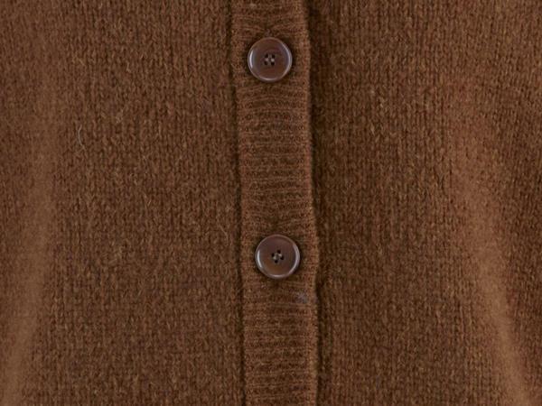 Strickjacke aus Alpaka mit Seide und Mohair