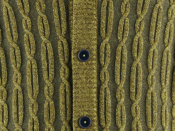 Strickjacke aus Bio-Baumwolle, Schurwolle und Yakwolle