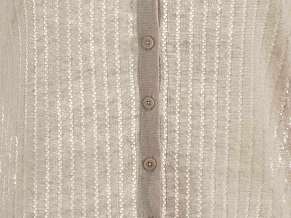 Strickjacke aus Leinen mit Seide