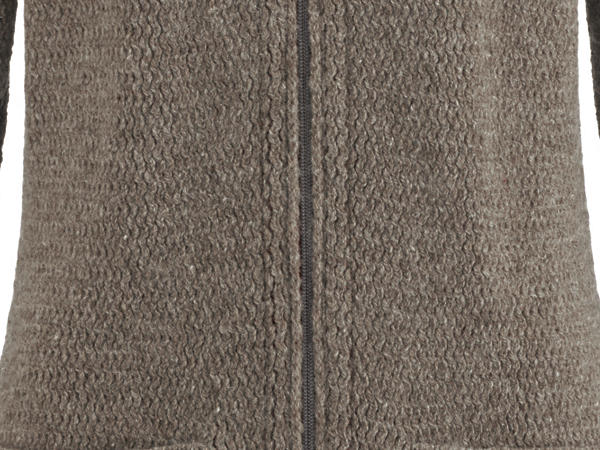 Strickjacke aus Rhönwolle mit Bio-Baumwolle