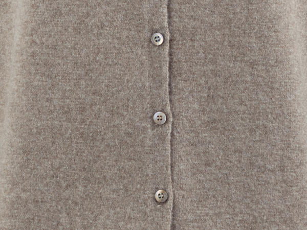 Strickjacke aus Schurwolle mit Kaschmir