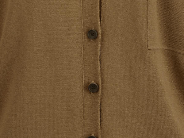 Strickjacke aus Seide mit Baumwolle
