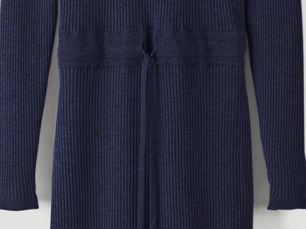 Strickkleid aus Bio-Baumwolle und Bio-Schurwolle