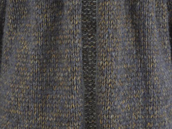 Strickmantel aus Alpaka mit Bio-Baumwolle, Seide und Mohair