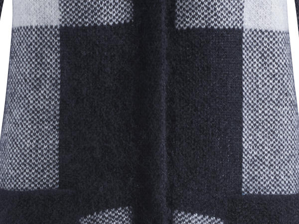 Strickmantel aus Lambswool mit Mohair und Seide