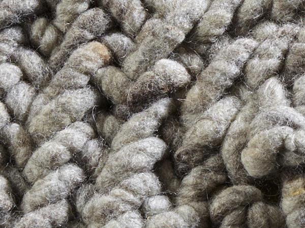 Struktur-Teppich aus reiner Schurwolle