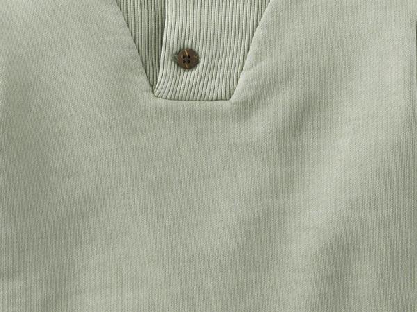 Sweatshirt mineralisch gefärbt aus reiner Bio-Baumwolle