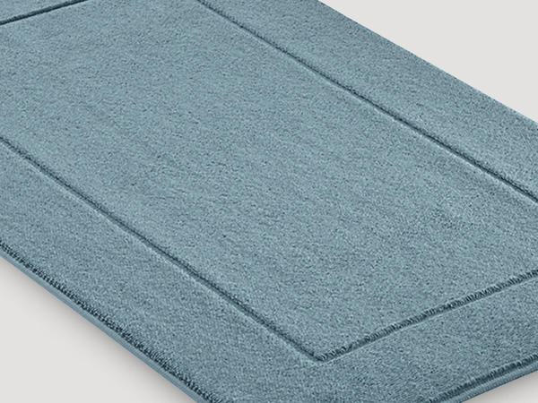 Terrycloth bath mat made from pure organic cotton
