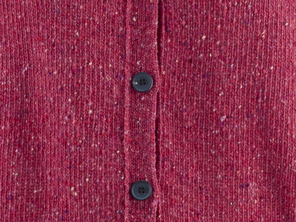 Tweed-Strickjacke aus reiner Schurwolle