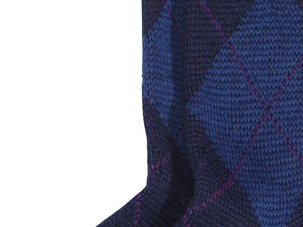 Unisex Argyle-Socke aus reiner Bio-Merinowolle