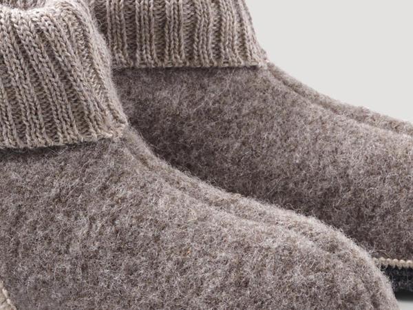 Unisex Hüttenschuh aus reiner Rhönwolle